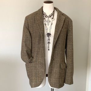 Ralph Lauren 100% Wool Plaid Blazer Size 12